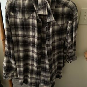 American eagle flannel size medium women's